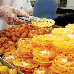 زولبیا بامیه ی درجه۱ روزانه در شیرینی سرای عبدالرضا
